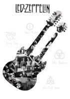 Led Zeppelin Double Neck Guitar by MadHatterMuscaria