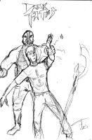 Bane VS Ewen Merrick sketch by FG-Arcadia