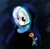 Sentry Gaster - starry hoodie by 13th-Cat