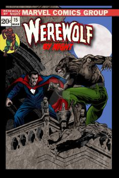 Werewolf By Night #15 cover recreation by Phatz63