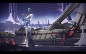ME3 Endings - Control/Destroy - Samara and Falere by chicksaw2002