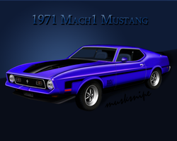 1971 Ford Mustang Mach1 by musksnipe