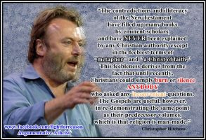 Hitchens really enjoyed driving a point home. by AAtheist