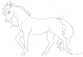 Free Horse Lineart by Spiderwick19