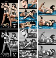 Bettie Page Selftie Comic by ARNie00