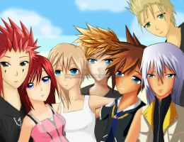 Kingdom Hearts -Destiny Island by Arlequinne