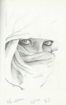 Eyestudy of girl with shawl by birgithececilie