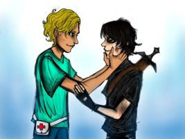 I did a Solangelo thing by leduemedaglie