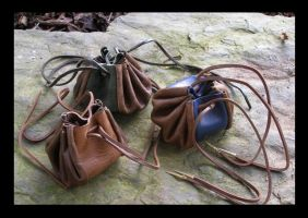 Leather Purses by Carancerth