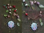 Rose garden necklace by Michaela9