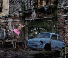 Spirit of old car by photoport
