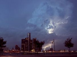 Lightning on Detroit by DocZ65