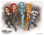 Lil Girls of Farscape colored by lilzart