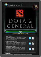 Dota2 TCG - Bonus Card: Dota 2 General by goldenhearted