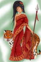 Saree Nidalee - LoL Skin concept by amber-enigma