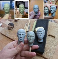 1/6 Kirk Sculpt In Progress pic by DarrenCarnall