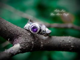 Young Spring silver ring by Gwillieth