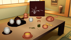 [MMD] Japanese Tea Set DL by OniMau619