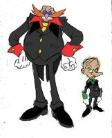 Alternate Robotnik and Snively by Yardley