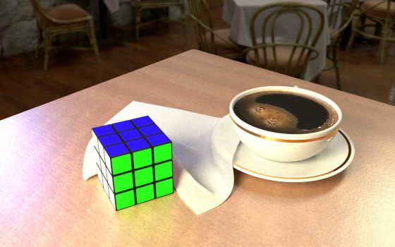 Coffee And Cube by whambam175