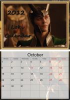 Loki Calendar - October 2012 by LuluDarling