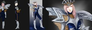 Shiva Sisters fusion Lightning costume by 14th-division