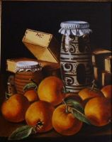 Still life with oranges by mjdezo