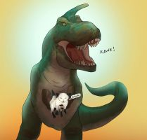 Cat and Rynosaur by Ryan-Rhodes