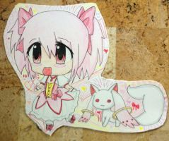 Madoka Kaname and Kyubey by Jasmine-Likes-Food