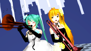 [MMD] Trombone DL by OniMau619