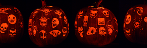 Skulls Pumpkin by ceemdee