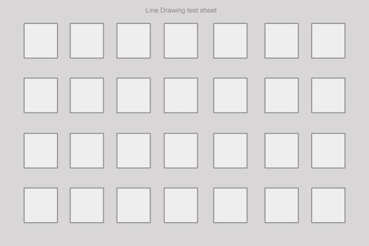 Test Sheet blank by Colin-Bentham
