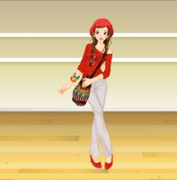 Red Color Fashion by Brandee-Ssj-Doll