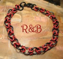 Red Rose Chainmail Bracelet by Utinni