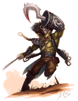 Orc Pirate! Y'arrr! by Fox-Demon-Kasumi