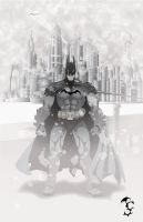 dark knight white out by BlindAcolyte
