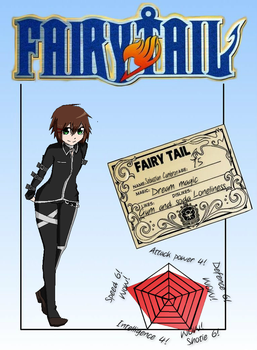 Sebastain Cambron! guild card! (fairy tail oc!) by Patherlily9113