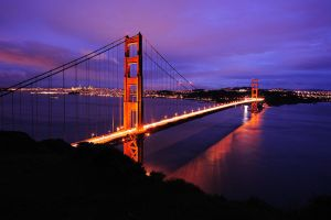 Golden Gate Twilight by porbital
