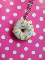 cute donut necklace by NimfVirTi