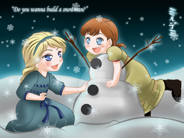 Do you wanna build a snowman? by Mildemme