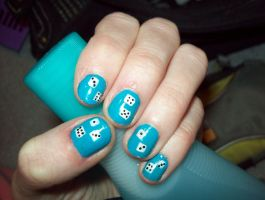 Dice Nails by ffishy21