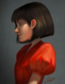 Girl in Red by Cristina001