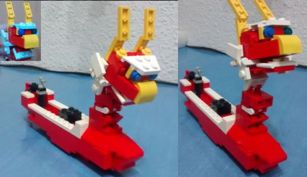 LEGO King of Red Lions Mascaron Rojo by DSenderM