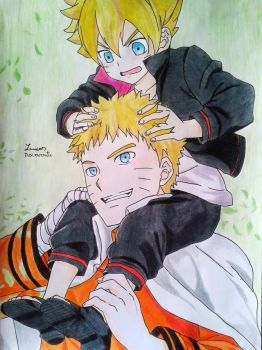 Father and son(Naruto and Boruto) by lucasnava