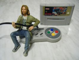 Kurt Cobain Playing The SNES by clickeclick