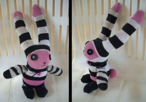 Francis the Sock Bunny by MultiColoredCrow