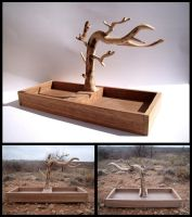 Walnut Jewelry Tree by xofox
