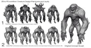 ERIC CHIANG CREATURE DEMO PT2 by FUNKYMONKEY1945