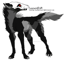 Wolf Lineart Coloring (Death 3) by FantasyFinale12