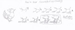 How to draw chicken/bird legs (standing) by MicoNutziri